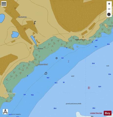 A Charlestown Harbour Marine Chart - Nautical Charts App