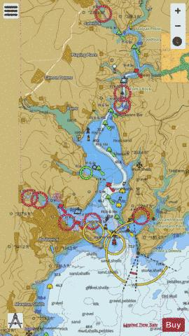 Falmouth to Truro Marine Chart - Nautical Charts App