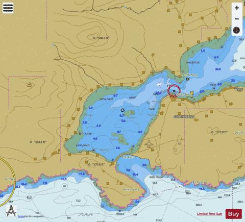 Continuation of Long Hope Marine Chart - Nautical Charts App