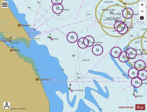 Approaches to the River Humber Marine Chart - Nautical Charts App