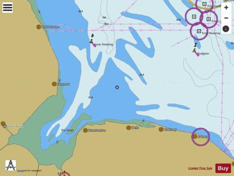 Approaches to the Wash Marine Chart - Nautical Charts App
