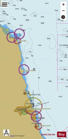 Farne Islands to the River Tyne Marine Chart - Nautical Charts App