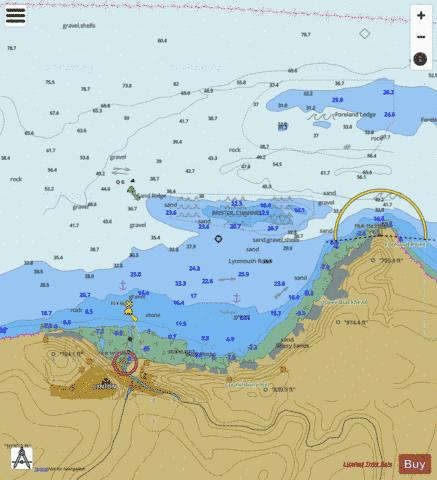 A Lynmouth Marine Chart - Nautical Charts App
