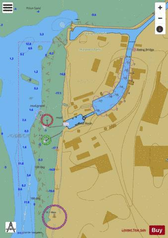 D Sharpness Docks Marine Chart - Nautical Charts App