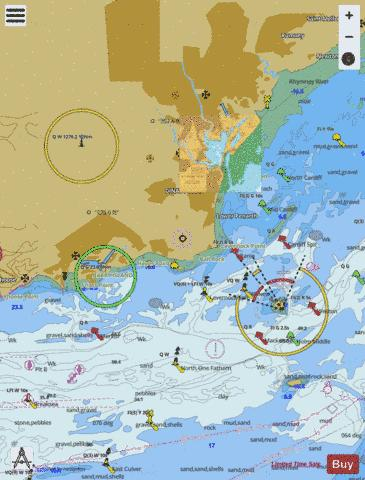 Barry and Cardiff Roads with Approaches Marine Chart - Nautical Charts App