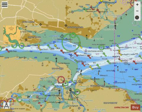 River Thames  Sea Reach Marine Chart - Nautical Charts App