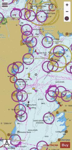 Irish sea western part marine chart 1411 0 nautical charts app