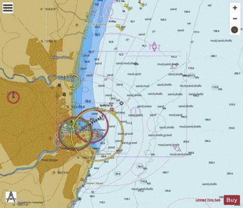 Approaches to Aberdeen Marine Chart - Nautical Charts App