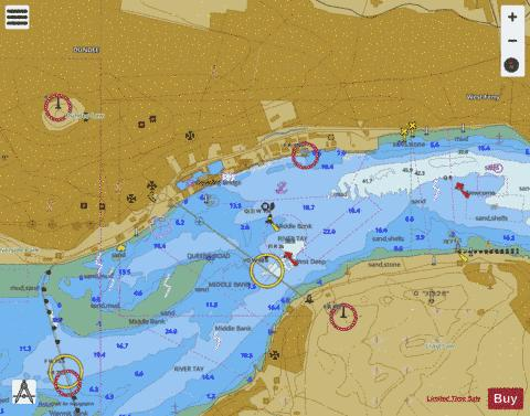 A  Dundee Docks Marine Chart - Nautical Charts App
