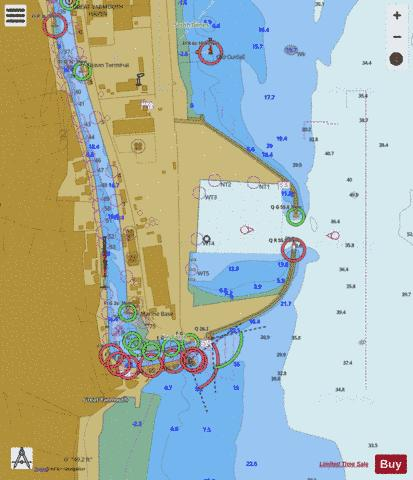 A Great Yarmouth Outer Harbour Marine Chart - Nautical Charts App