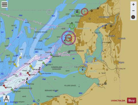 A  River Lune and Approaches to Heysham Marine Chart - Nautical Charts App