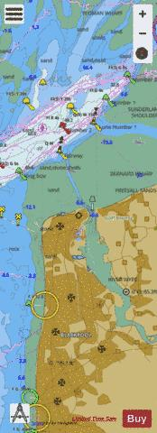 B  Approaches to Fleetwood Marine Chart - Nautical Charts App
