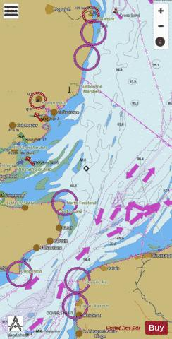 Approaches to the Thames Estuary Marine Chart - Nautical Charts App