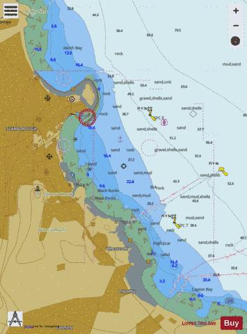 A  Scarborough Bay Marine Chart - Nautical Charts App