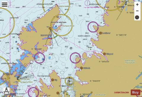 North Minch  Southern Part Marine Chart - Nautical Charts App