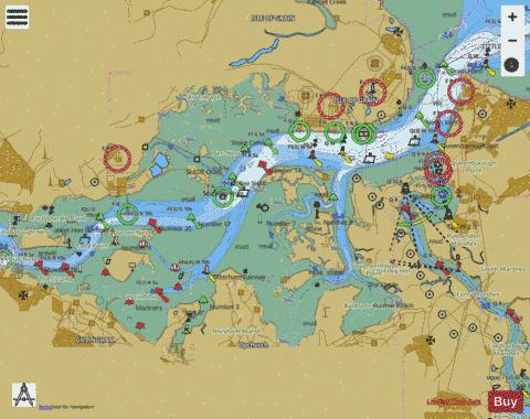 River Medway Garrison Point to Folly Point Marine Chart - Nautical Charts App