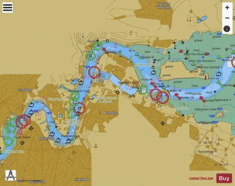 River Medway  Folly Point to Maidstone Marine Chart - Nautical Charts App