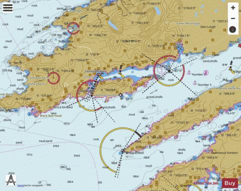 Bantry Bay Black Ball Head to Shot Head Marine Chart - Nautical Charts App