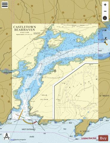 Castletown Bearhaven Marine Chart - Nautical Charts App