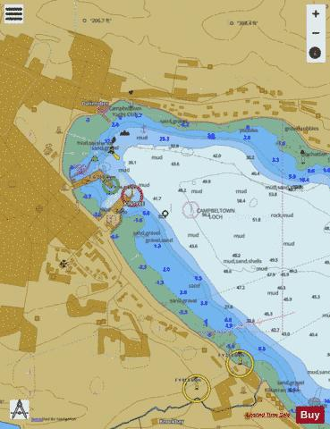 E Campbeltown Harbour Marine Chart - Nautical Charts App