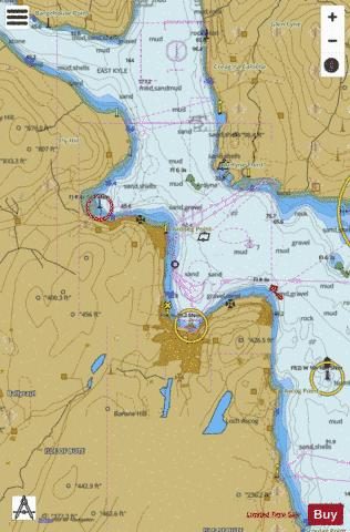 A  Rothesay Sound Marine Chart - Nautical Charts App