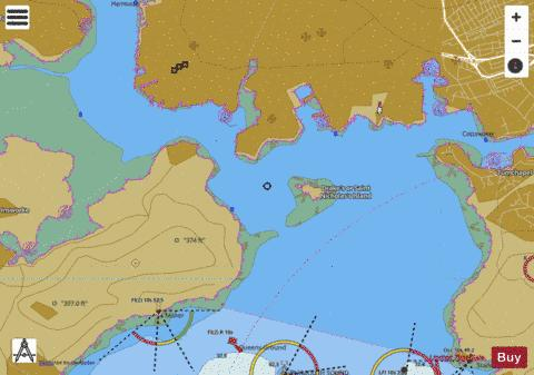 Smeaton Pass and The Narrows Marine Chart - Nautical Charts App
