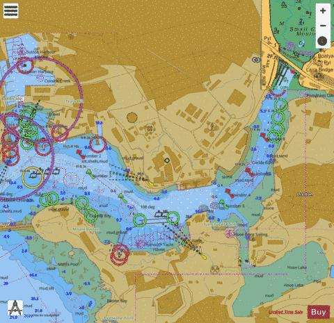Continuation of Cattewater Marine Chart - Nautical Charts App