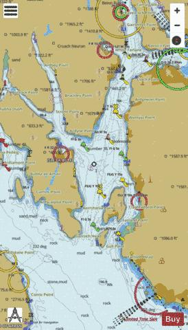 Little Cumbrae Island to Cloch Point Marine Chart - Nautical Charts App