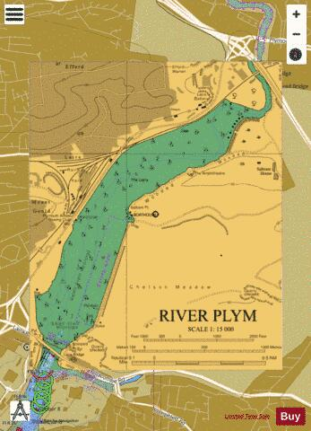 River Plym Marine Chart - Nautical Charts App