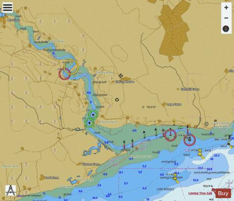 A Beaulieu River Marine Chart - Nautical Charts App