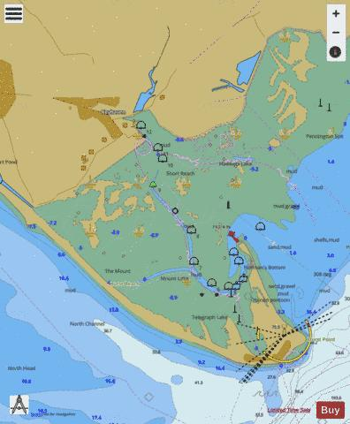 F Approaches to Keyhaven Marine Chart - Nautical Charts App