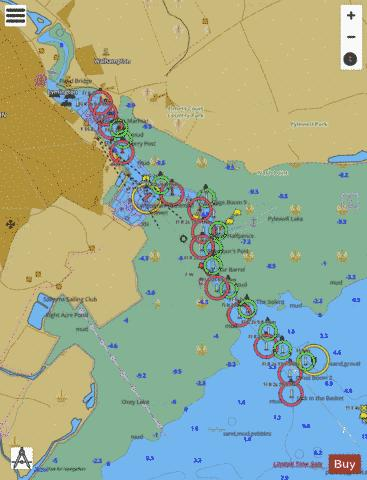 G Lymington River Marine Chart - Nautical Charts App