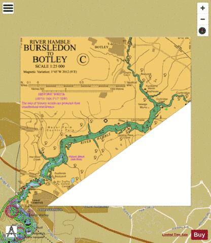 C Bursledon to Botley Marine Chart - Nautical Charts App