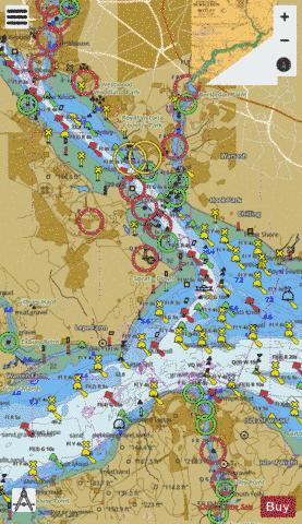 Southampton Water and Approaches Marine Chart - Nautical Charts App