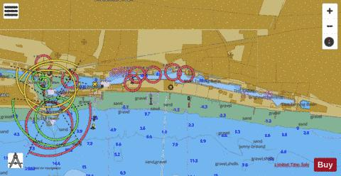B Shoreham Harbour Eastern Arm and The Canal Marine Chart - Nautical Charts App