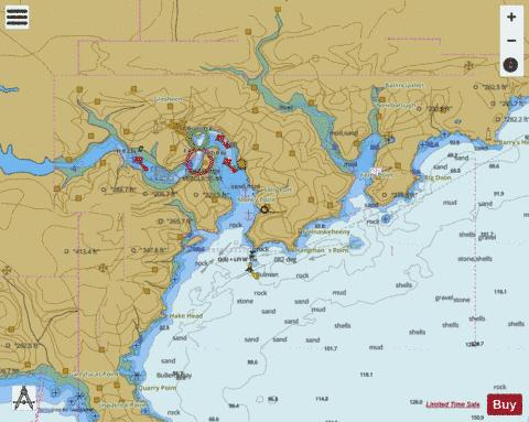 Kinsale Harbour and Oyster Haven Marine Chart 20530 Nautical