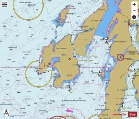 Approaches to the Sound of Jura Marine Chart - Nautical Charts App