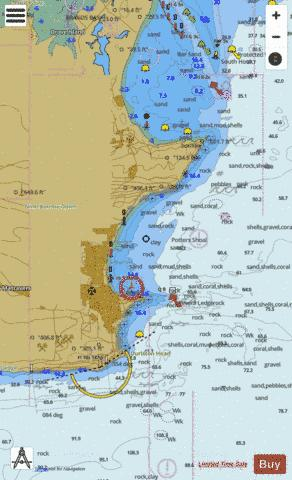 A Swanage and Studland Bays Marine Chart - Nautical Charts App