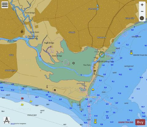 D Christchurch Harbour Marine Chart - Nautical Charts App