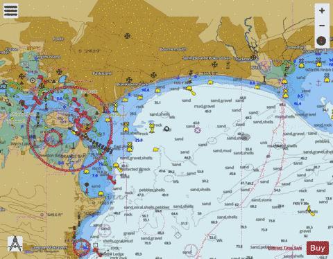 Poole England Map.Poole Bay Marine Chart 2175 0 Nautical Charts App