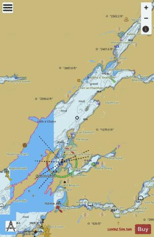 Loch Linnhe  Central Part Marine Chart - Nautical Charts App