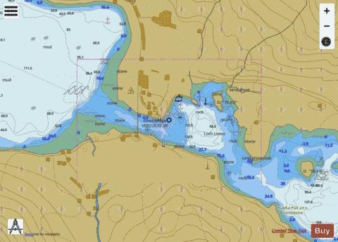 A  Loch Leven Narrows Marine Chart - Nautical Charts App