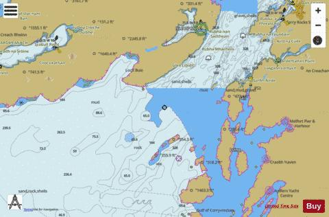 Firth of Lorn Southern Part Marine Chart - Nautical Charts App