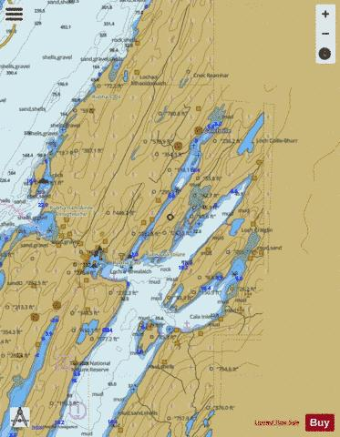 Continuation of Loch Sween Marine Chart - Nautical Charts App