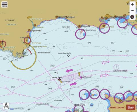 Start Point to The Needles including Off Casquets TSS Marine Chart - Nautical Charts App