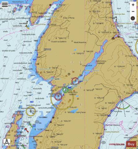 A West Loch Tarbert Marine Chart - Nautical Charts App
