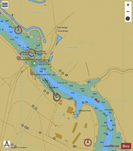A Ferry Reach Marine Chart - Nautical Charts App