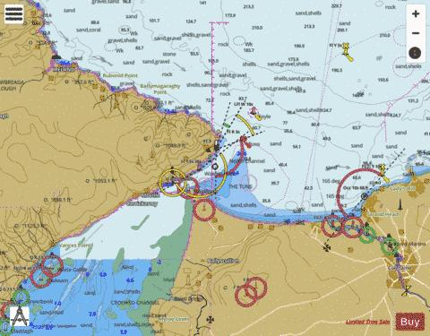 Approaches to Lough Foyle Marine Chart - Nautical Charts App