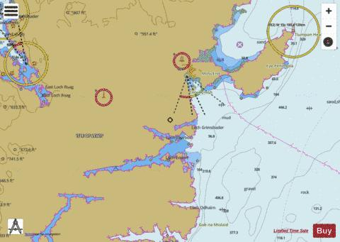 Approaches to Stornoway Marine Chart - Nautical Charts App