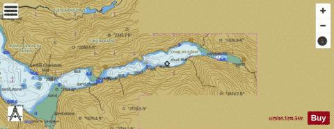D Continuation of Loch Hourn Marine Chart - Nautical Charts App
